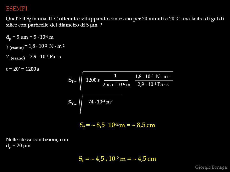 (esano) = 1,8 . 10-2 N . m-1 (esano) = 2,9 . 10-4 Pa . s Sf = √ k . t