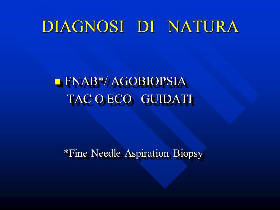 DIAGNOSI DI NATURA FNAB*/ AGOBIOPSIA TAC O ECO GUIDATI