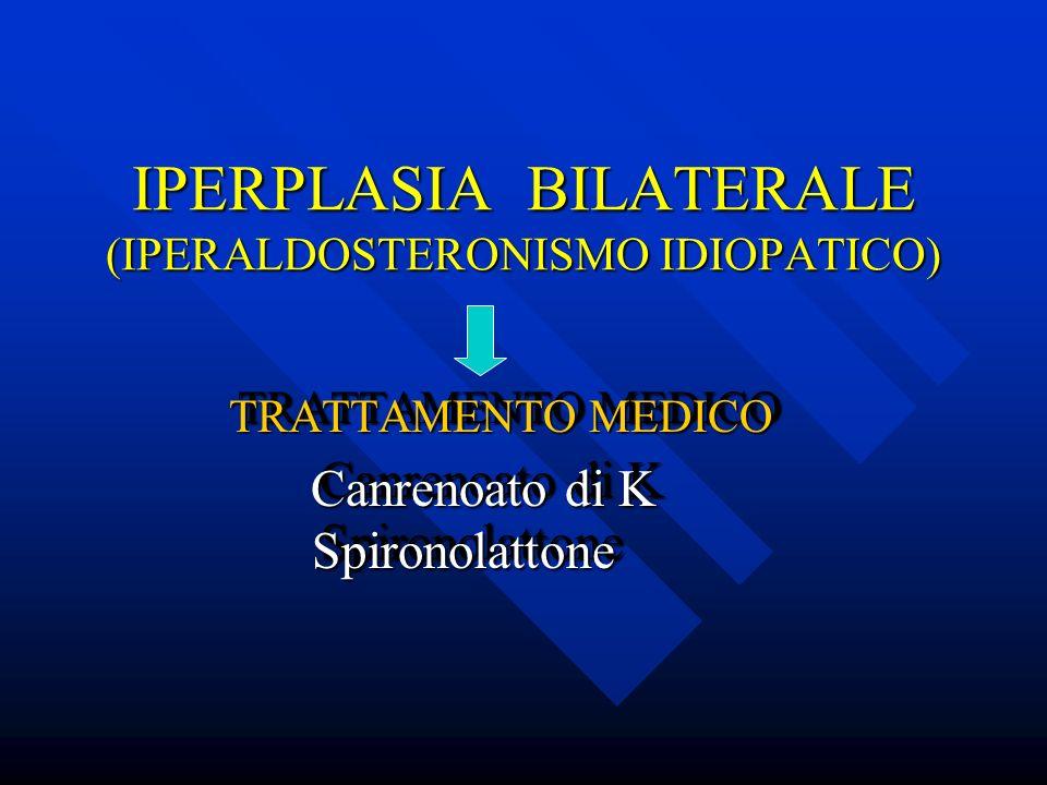 IPERPLASIA BILATERALE (IPERALDOSTERONISMO IDIOPATICO)