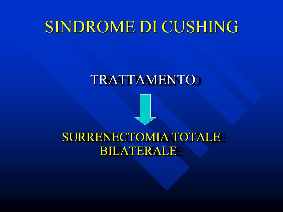 SINDROME DI CUSHING TRATTAMENTO SURRENECTOMIA TOTALE BILATERALE
