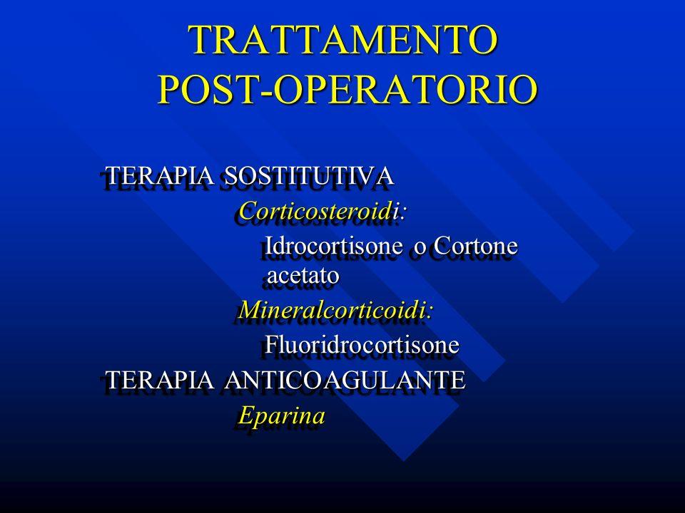 TRATTAMENTO POST-OPERATORIO