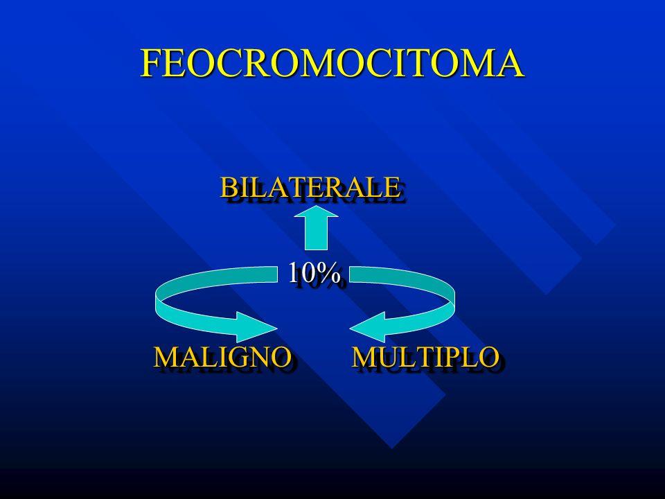 FEOCROMOCITOMA BILATERALE 10% MALIGNO MULTIPLO