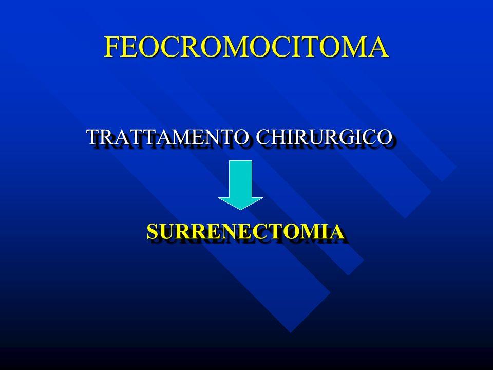 FEOCROMOCITOMA TRATTAMENTO CHIRURGICO SURRENECTOMIA