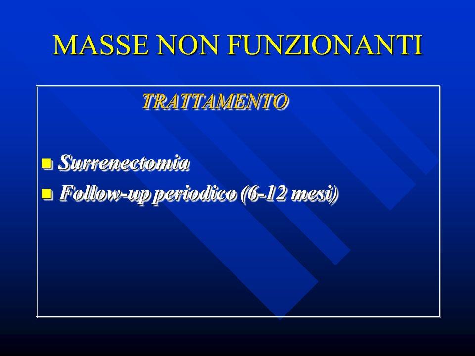 MASSE NON FUNZIONANTI TRATTAMENTO Surrenectomia