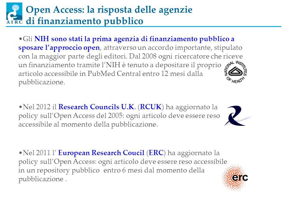 Open Access: la risposta delle agenzie di finanziamento pubblico