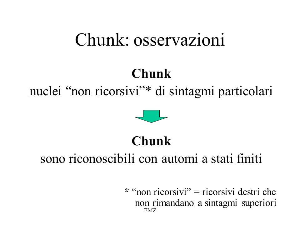 Chunk: osservazioni Chunk