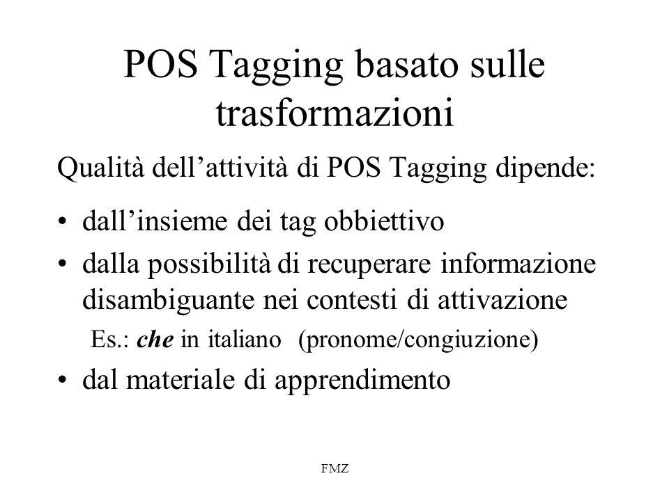 POS Tagging basato sulle trasformazioni