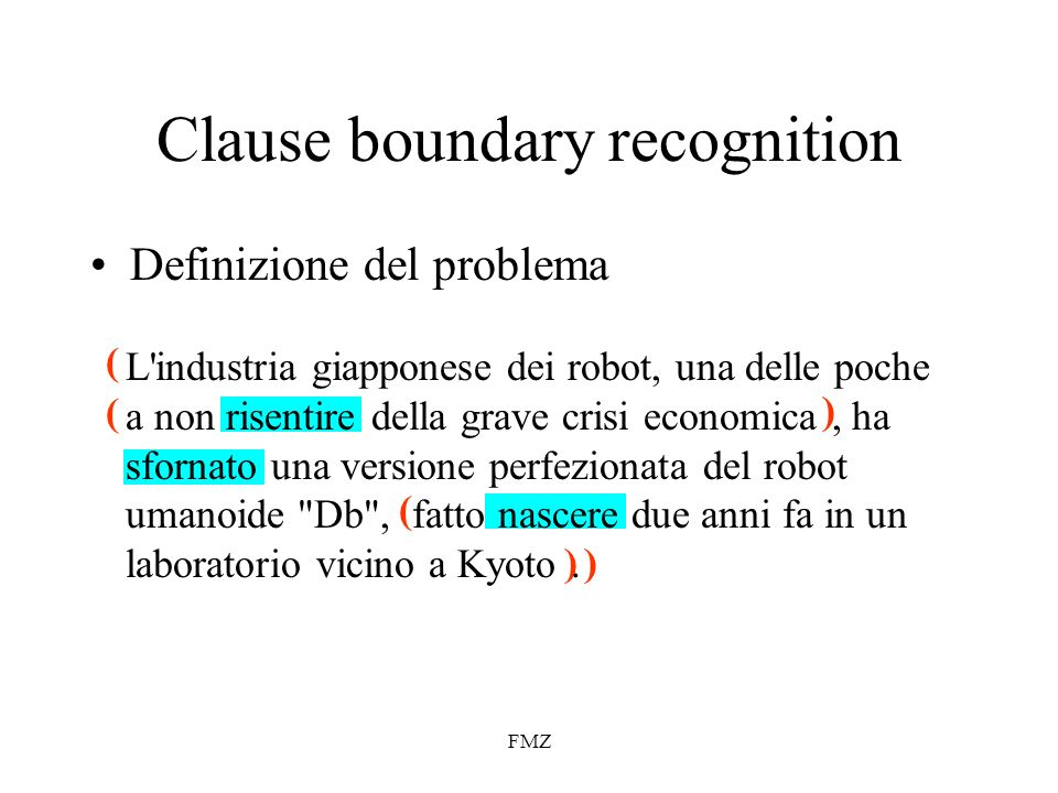 Clause boundary recognition