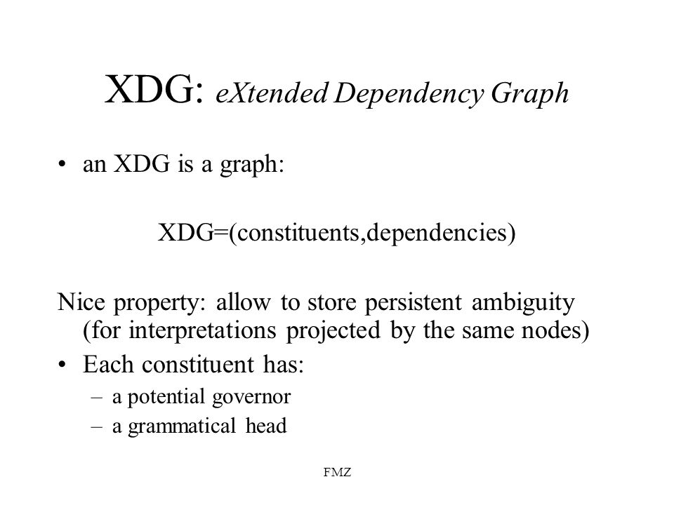 XDG: eXtended Dependency Graph