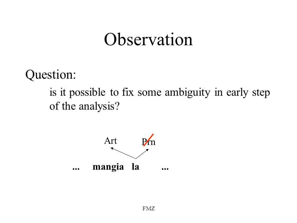 Observation Question: