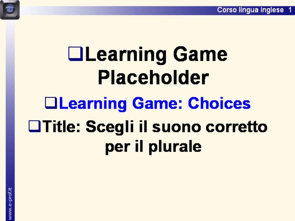 Scegli il suono corretto per il plurale