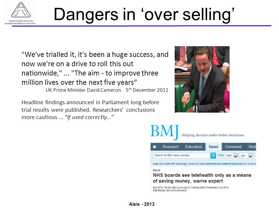 Dangers in 'over selling'