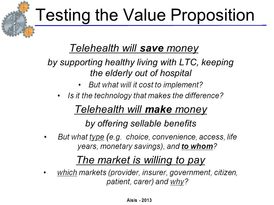 Testing the Value Proposition