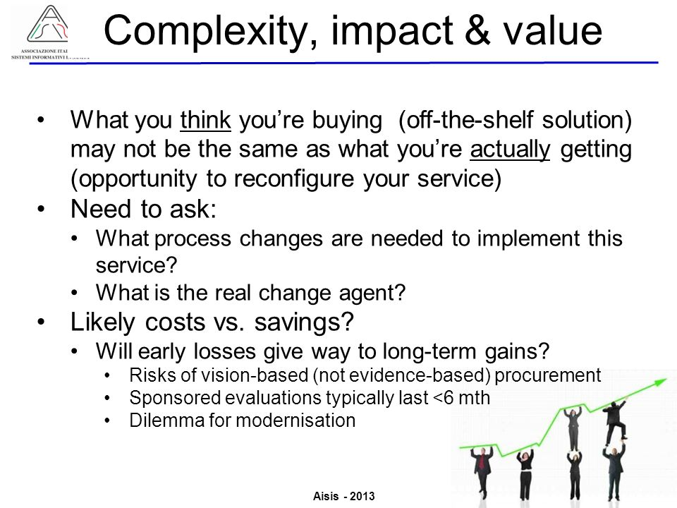 Complexity, impact & value