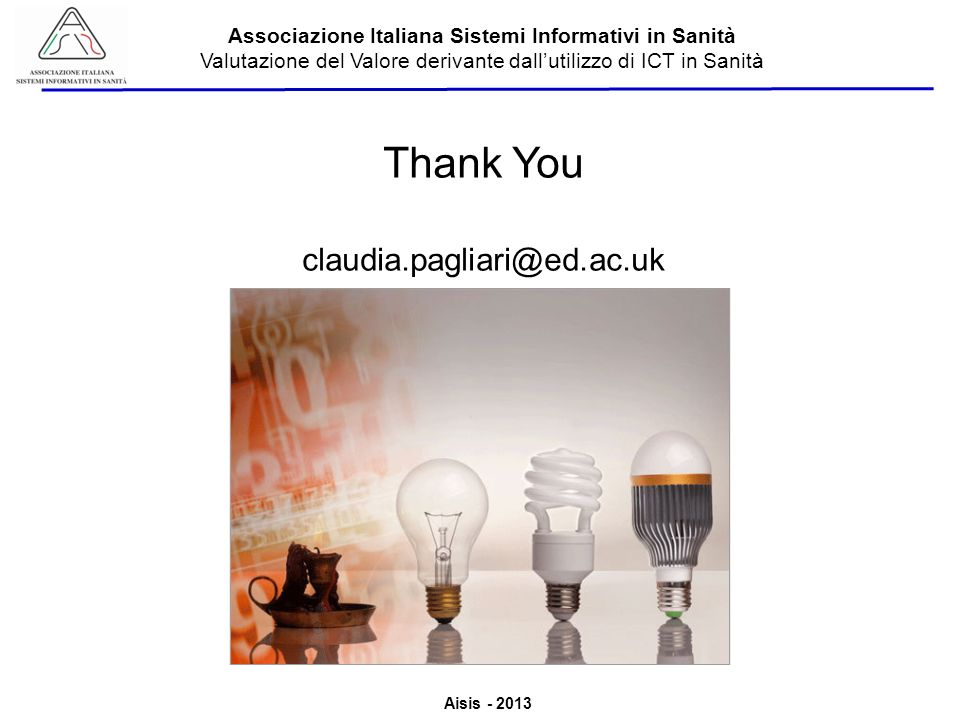 Thank You claudia.pagliari@ed.ac.uk