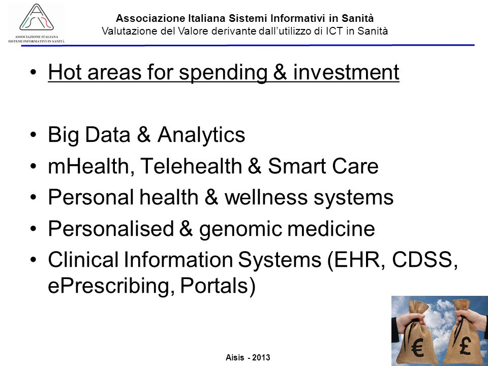 Hot areas for spending & investment Big Data & Analytics