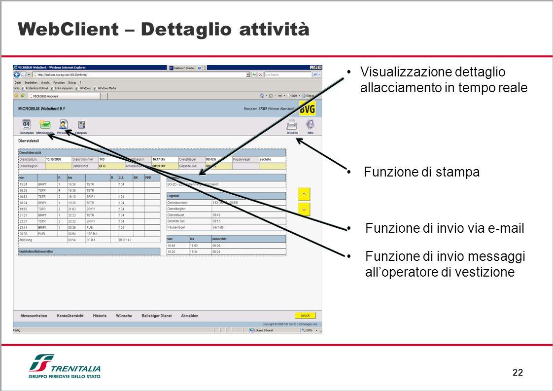 WebClient – Dettaglio attività