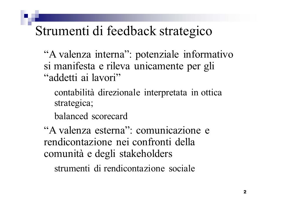 Strumenti di feedback strategico