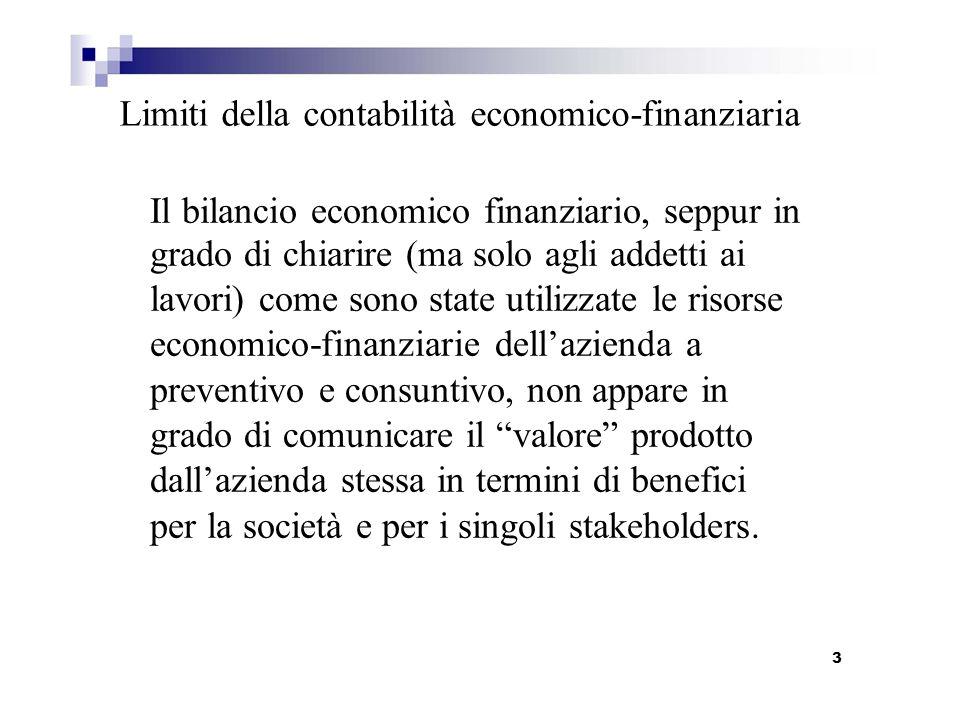 Limiti della contabilità economico-finanziaria