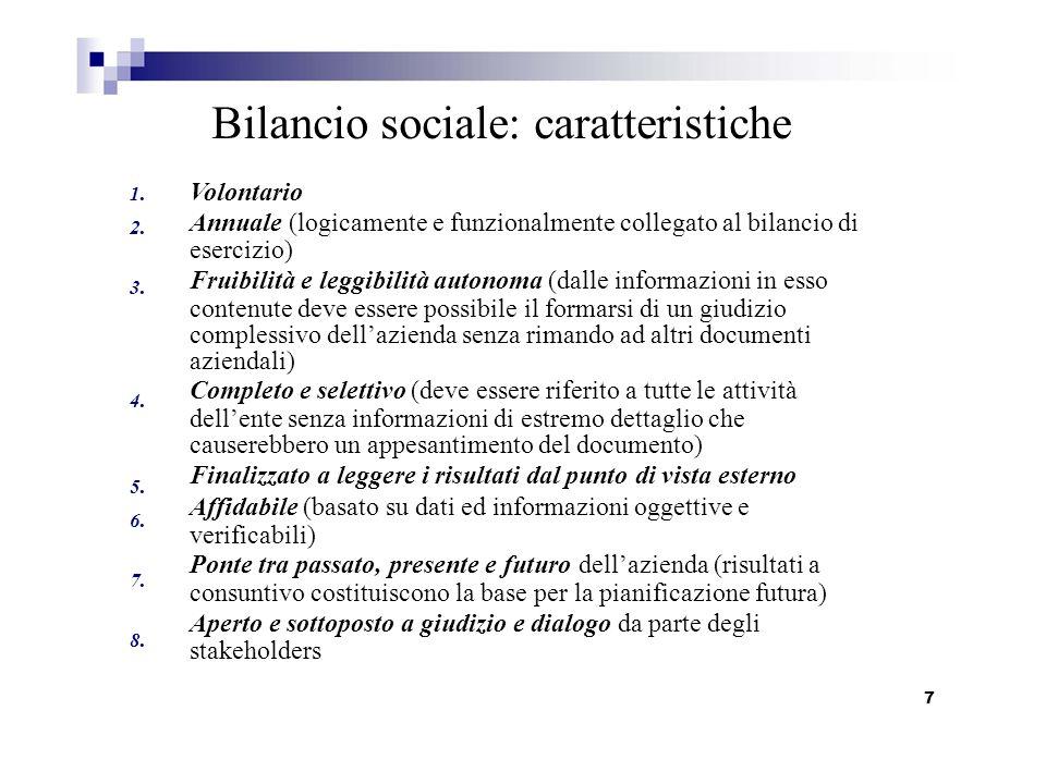 Bilancio sociale: caratteristiche
