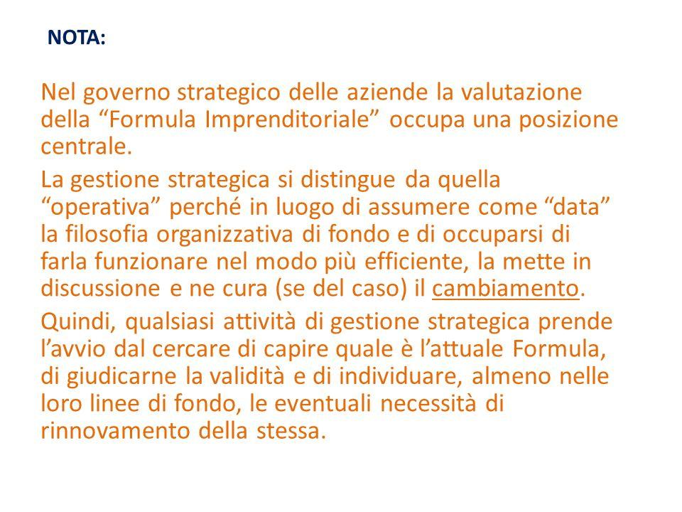Nel governo strategico delle aziende la valutazione