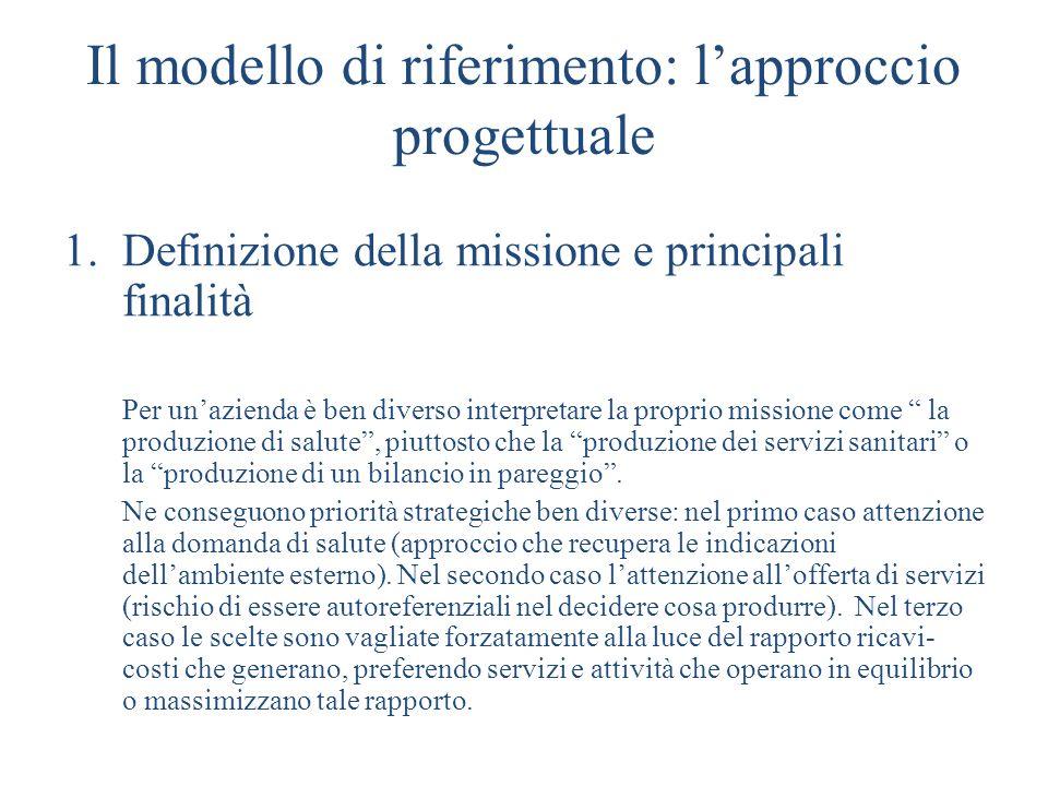 Il modello di riferimento: l'approccio progettuale