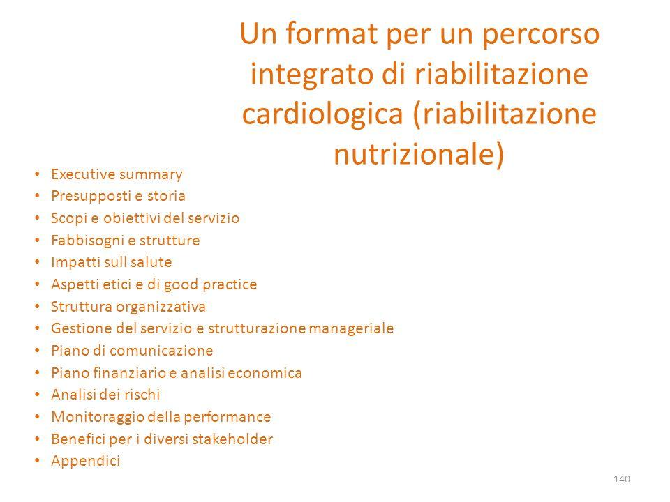 Un format per un percorso integrato di riabilitazione cardiologica (riabilitazione nutrizionale)