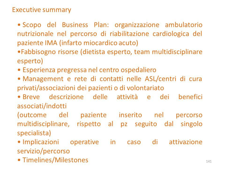 Fabbisogno risorse (dietista esperto, team multidisciplinare esperto)
