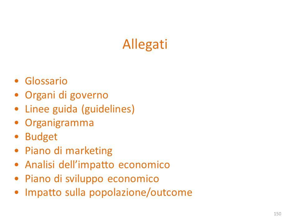Allegati Glossario Organi di governo Linee guida (guidelines)