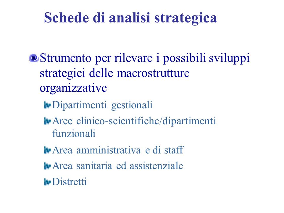 Schede di analisi strategica