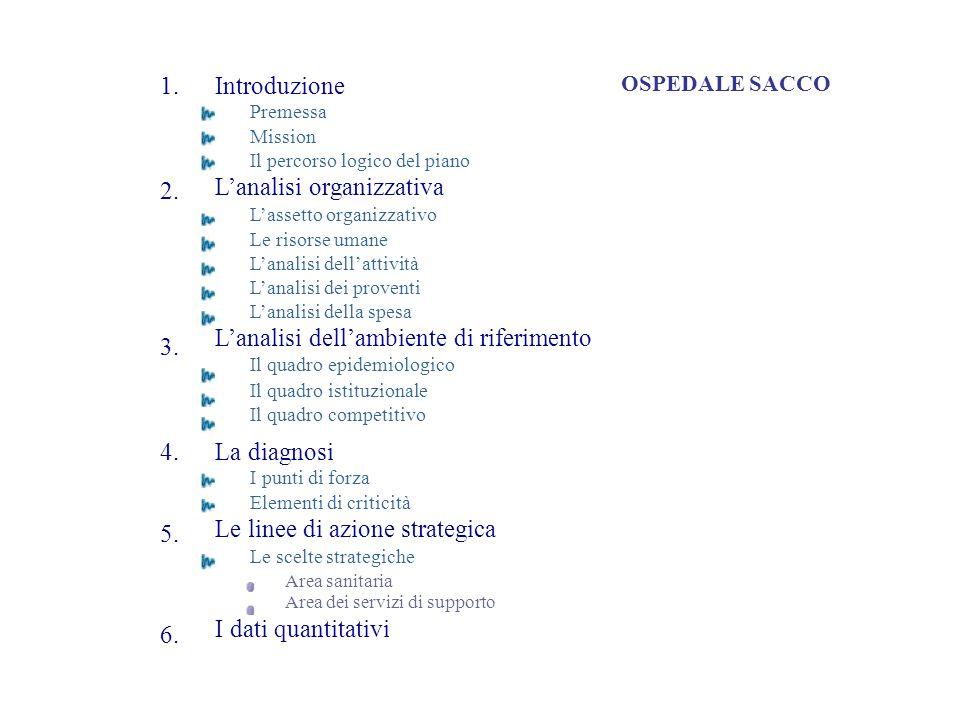 L'analisi organizzativa L'assetto organizzativo