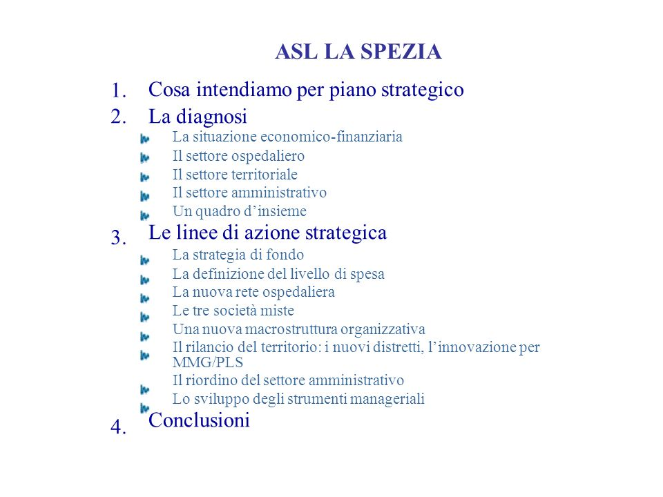 Cosa intendiamo per piano strategico 1. 2.