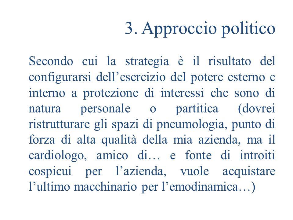 3. Approccio politico