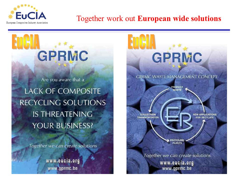 EuCIA EuCIA Together work out European wide solutions www.eucia.org