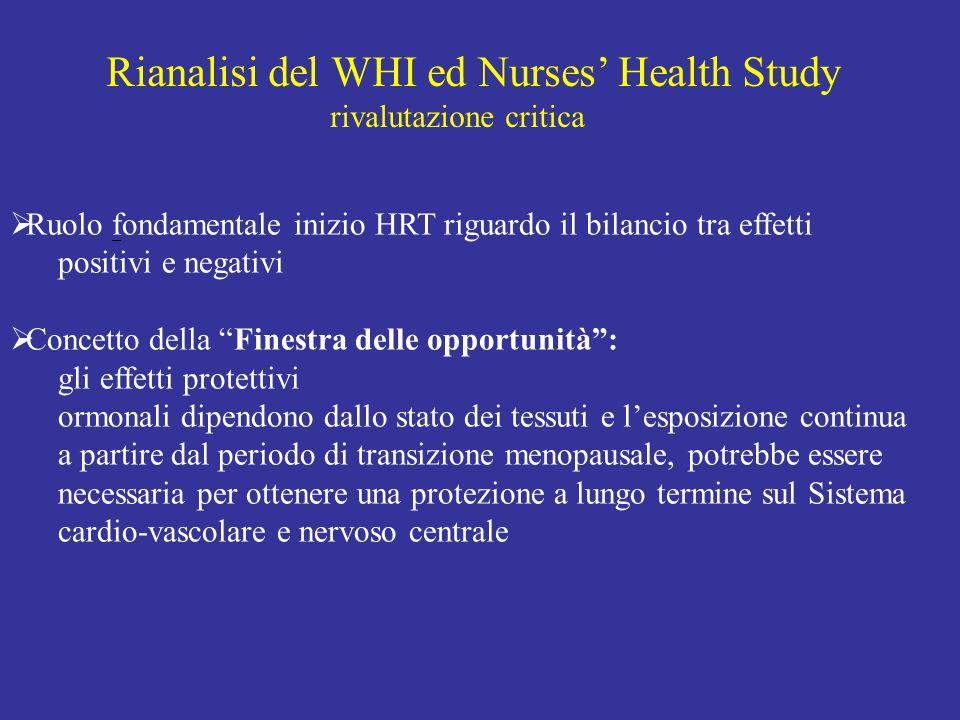 Rianalisi del WHI ed Nurses' Health Study