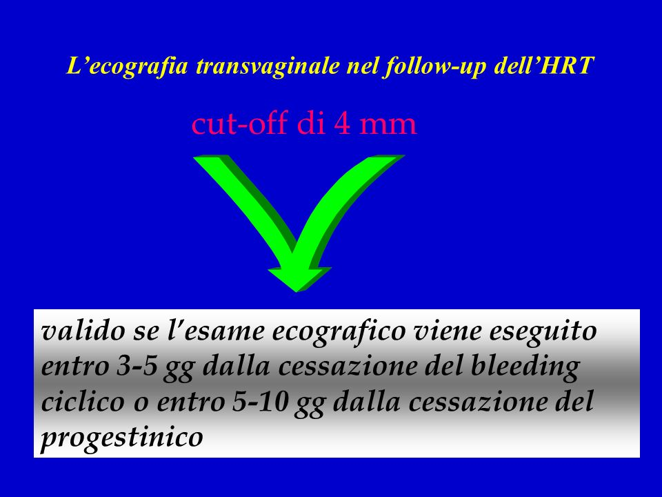 L'ecografia transvaginale nel follow-up dell'HRT