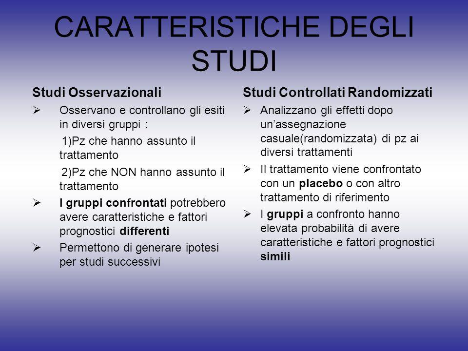 CARATTERISTICHE DEGLI STUDI