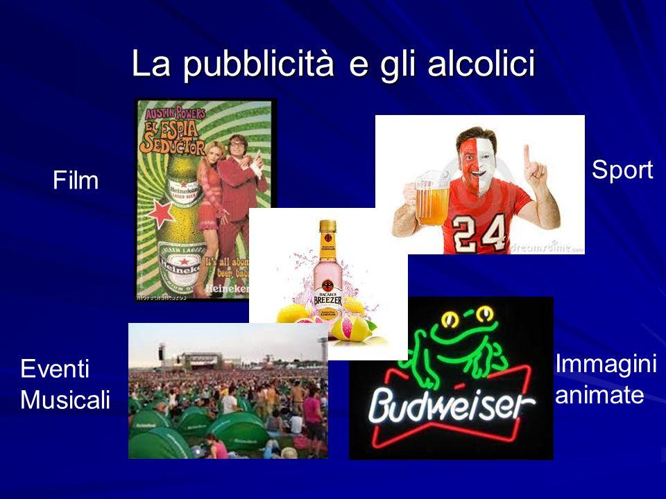 La pubblicità e gli alcolici