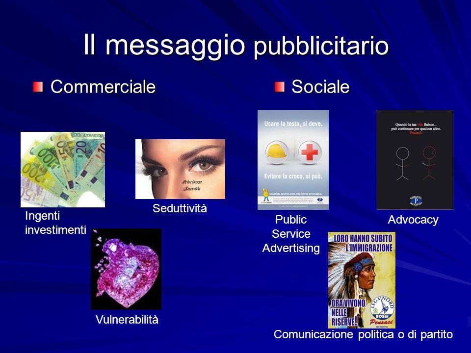 Il messaggio pubblicitario