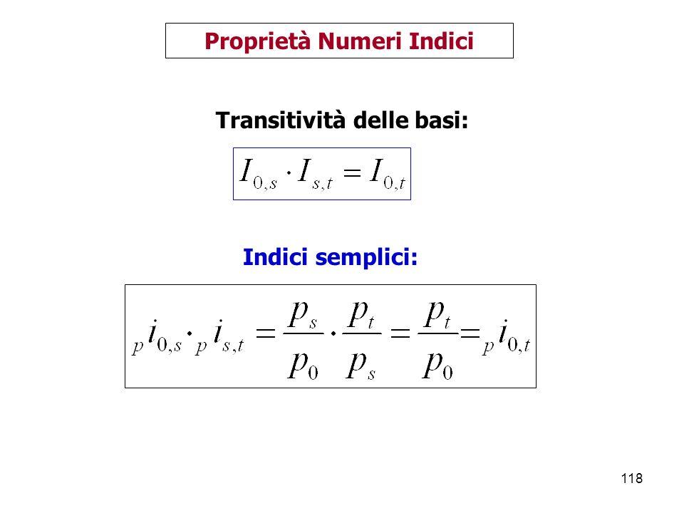Proprietà Numeri Indici Transitività delle basi: