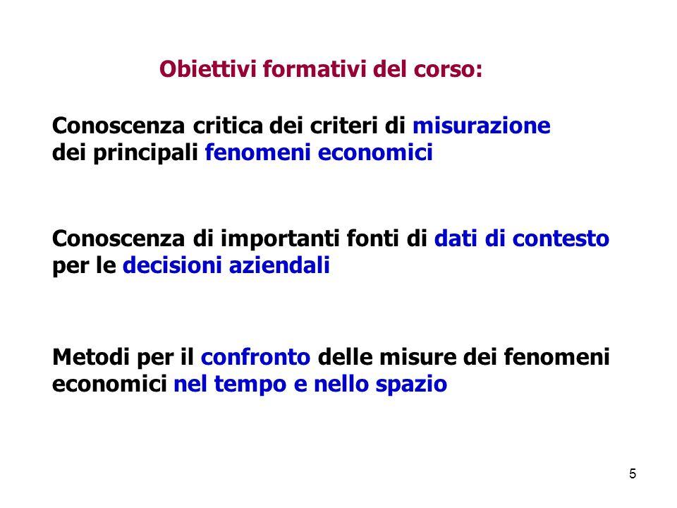 Obiettivi formativi del corso: