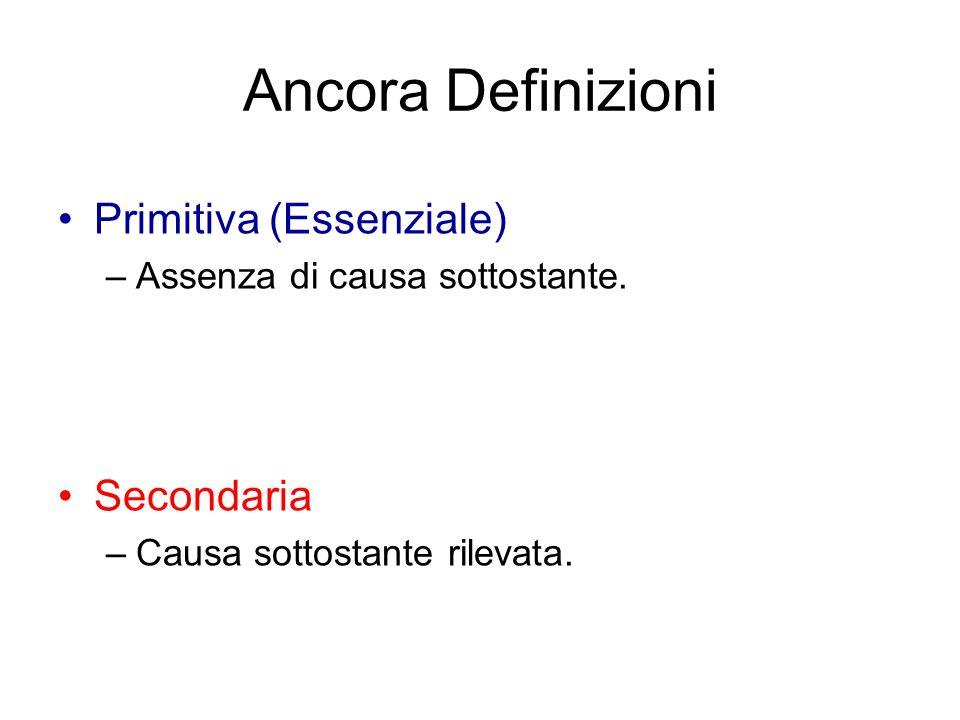 Ancora Definizioni Primitiva (Essenziale) Secondaria