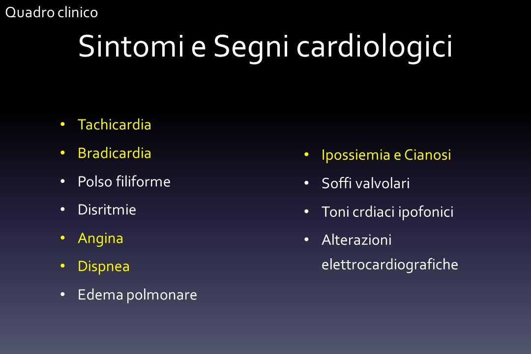 Sintomi e Segni cardiologici
