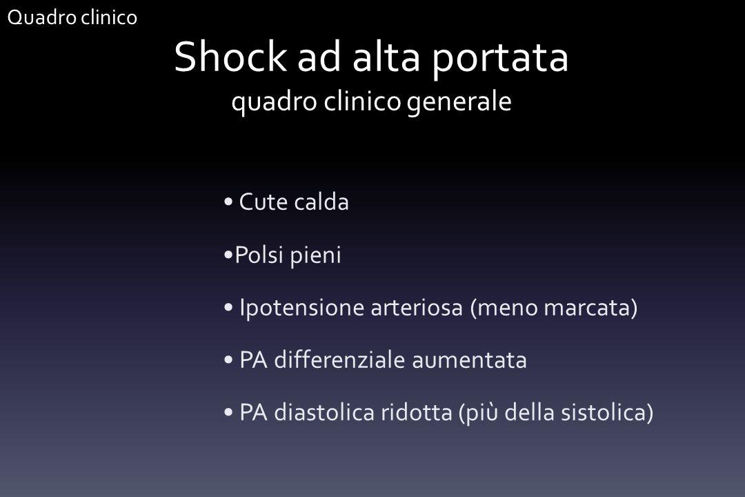 Shock ad alta portata quadro clinico generale