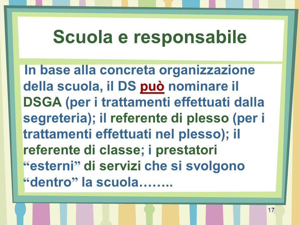 Scuola e responsabile