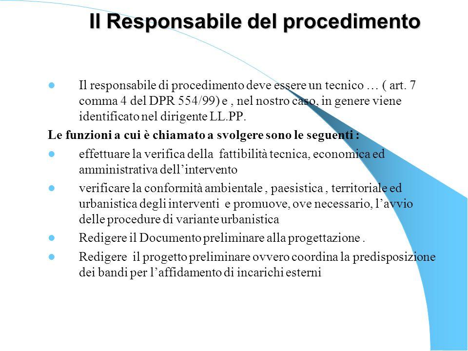 Il Responsabile del procedimento