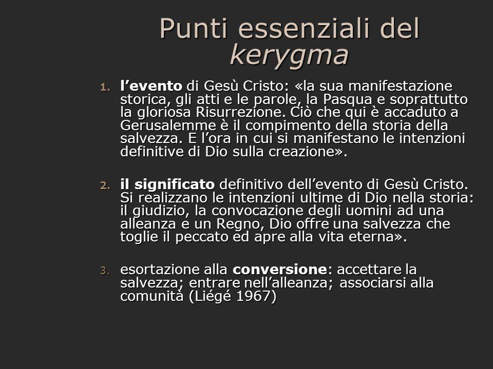 Punti essenziali del kerygma