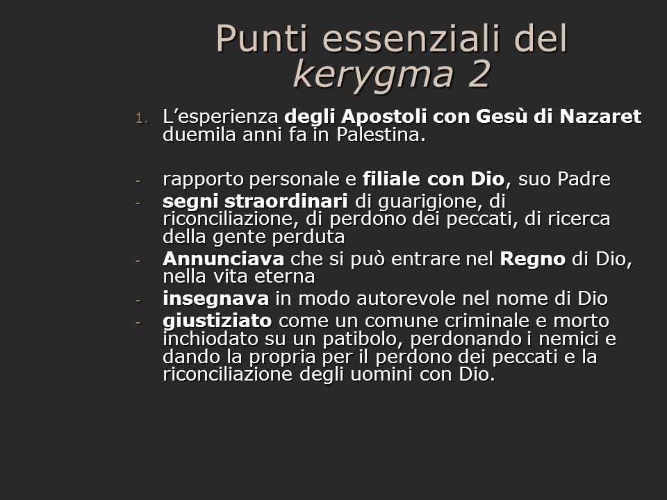 Punti essenziali del kerygma 2