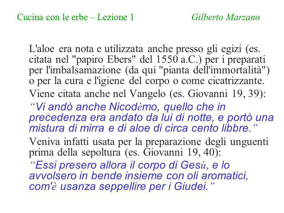 Cucina con le erbe – Lezione 1 Gilberto Marzano