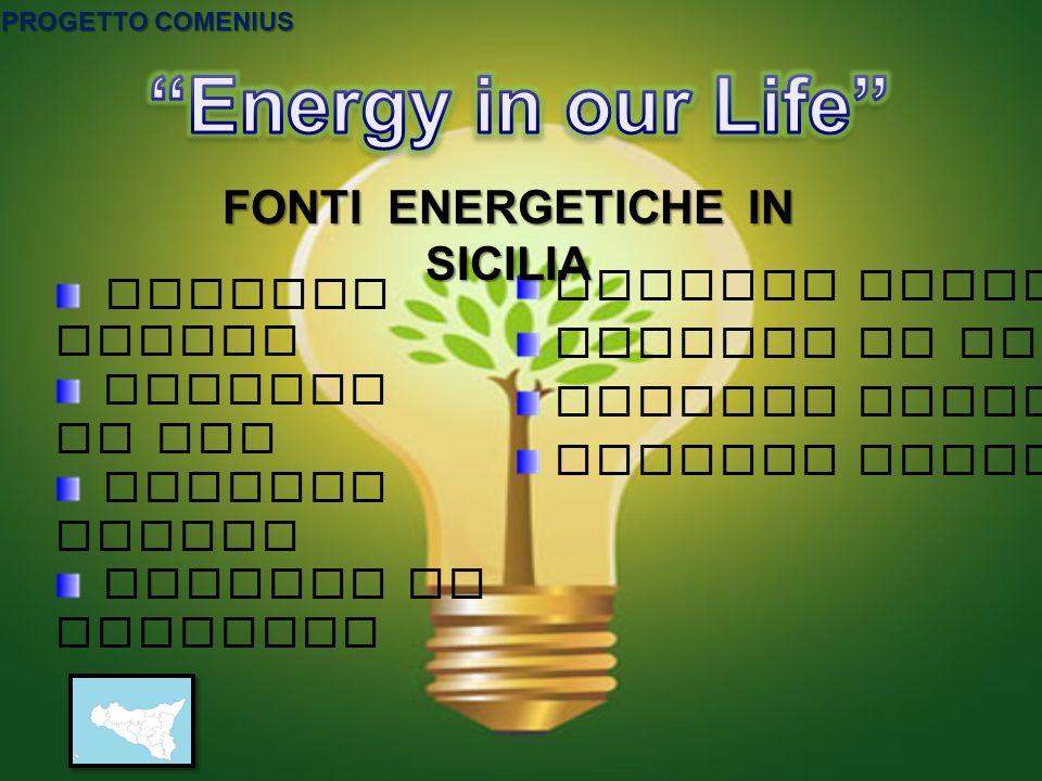 FONTI ENERGETICHE IN SICILIA
